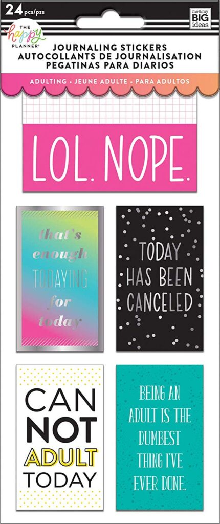 """Gift Ideas for """"Grown Ups""""! by popular Tennessee life and style blog, Flamingo Toes: image of journaling stickers."""