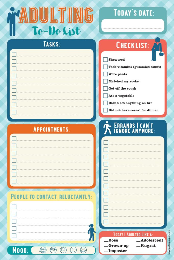 """Gift Ideas for """"Grown Ups""""! by popular Tennessee life and style blog, Flamingo Toes: image of an Adulting to-do list."""