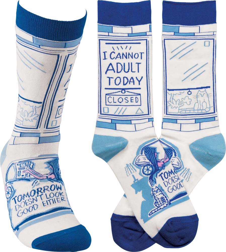 "Gift Ideas for ""Grown Ups""! by popular Tennessee life and style blog, Flamingo Toes: image of can't adult today socks."