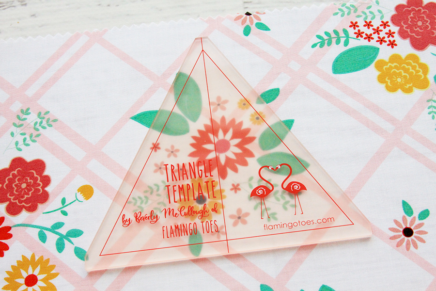New Quilting Templates on the Way! by popular Tennessee quilting blog, Flamingo Toes: image of the triangle template.