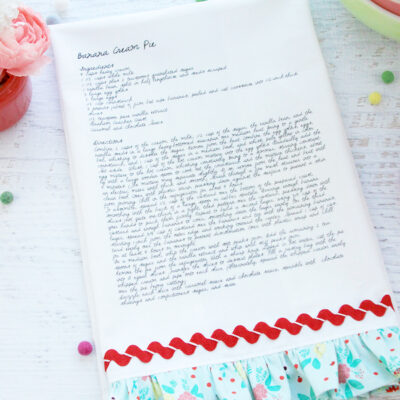 Custom Recipe Dishtowel DIY