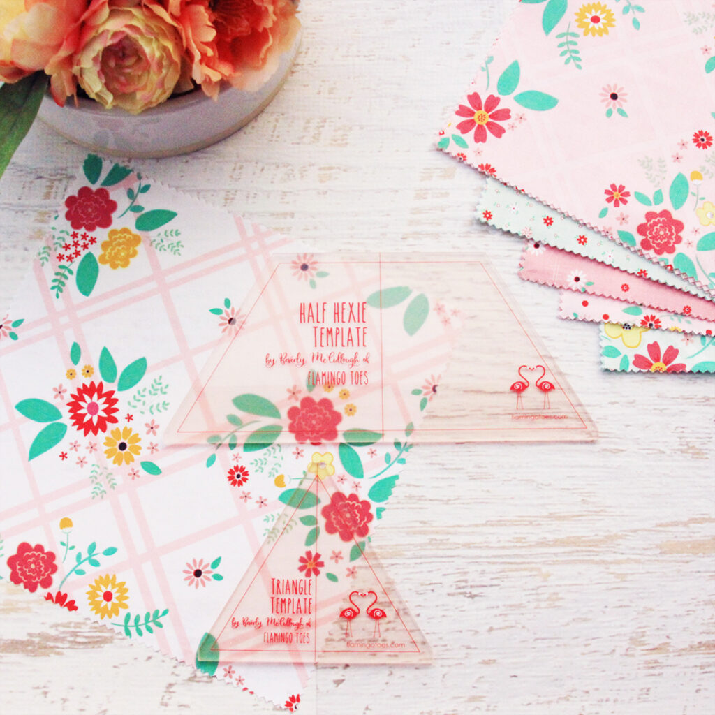 New Quilting Templates on the Way! by popular Tennessee quilting blog, Flamingo Toes: image of the triangle and half hexie template.