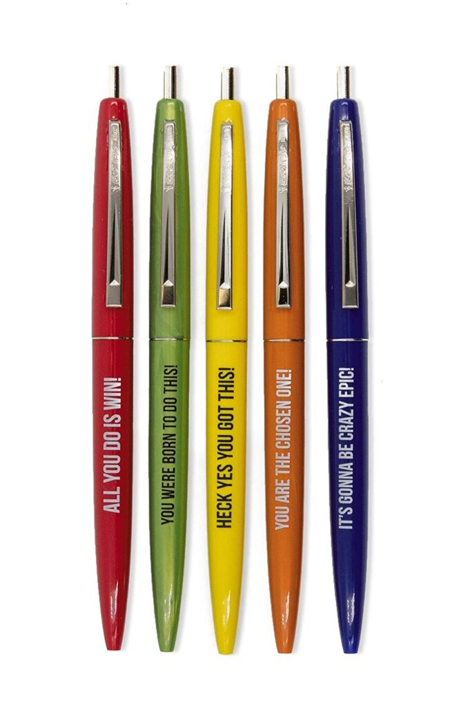"""Gift Ideas for """"Grown Ups""""! by popular Tennessee life and style blog, Flamingo Toes: image of motivational pens."""