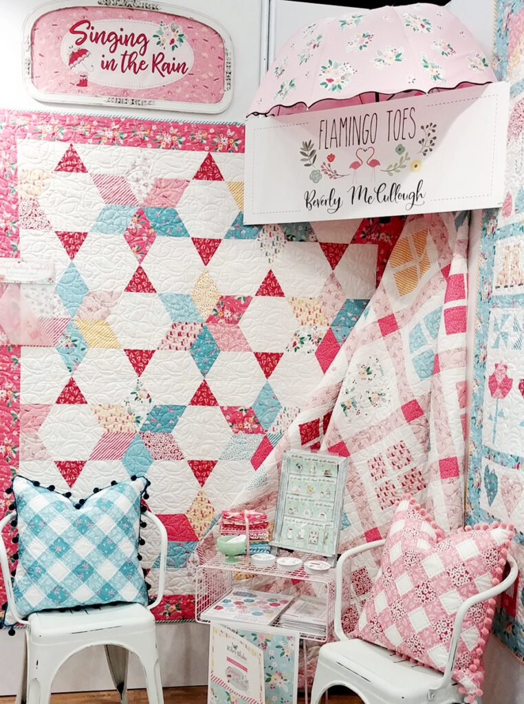 New Quilting Templates on the Way! by popular Tennessee quilt blog, Flamingo Toes: image of quilts made by using the triangle template.