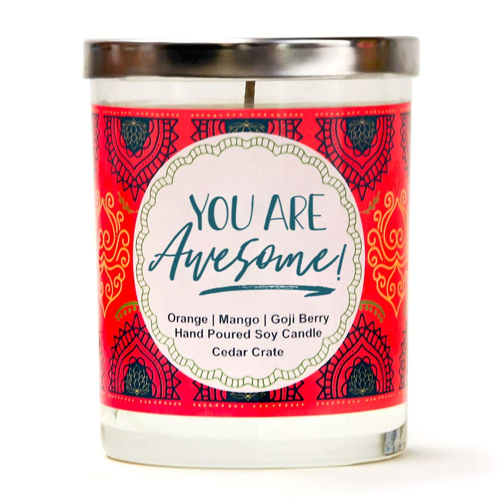 "Gift Ideas for ""Grown Ups""! by popular Tennessee life and style blog, Flamingo Toes: image of You are Awesome candle."