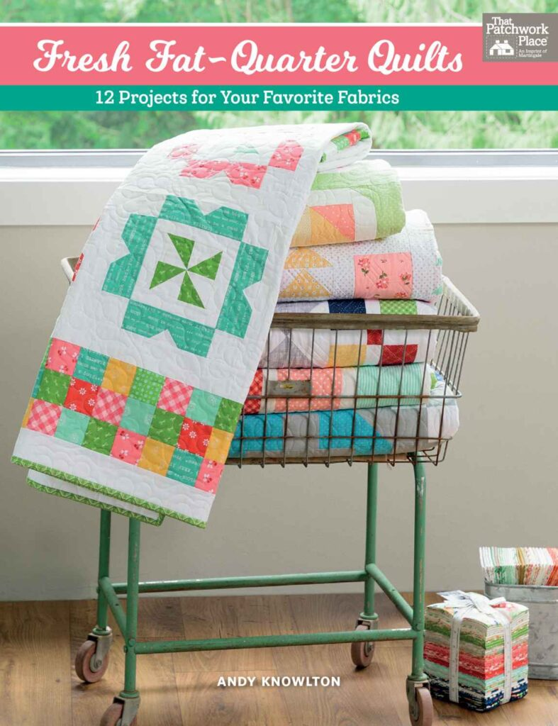 Fresh Fat Quarter Quilts Table Runner by popular Tennessee quilting blog, Flamingo Toes: image of a Fresh Fat Quarter Quilts book.