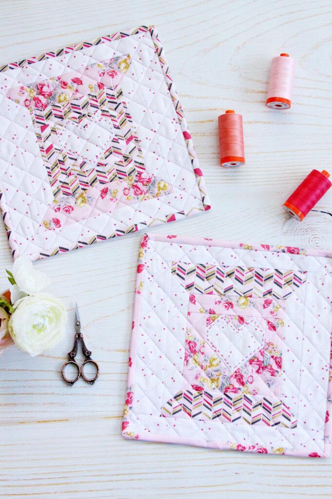 Love to Stitch Quilt Block - Free pattern!