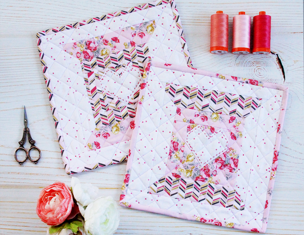 Free Pattern for the Love to Stitch Quilt Block