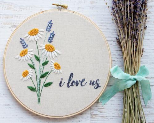 I Love Us Embroidery Hoop Art
