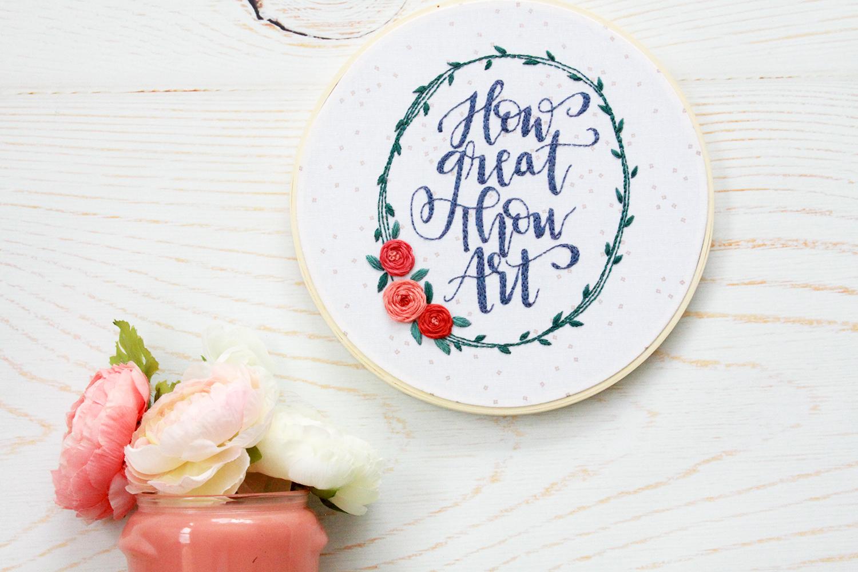 Hymn Embroidery Hoop Art - Free Pattern!