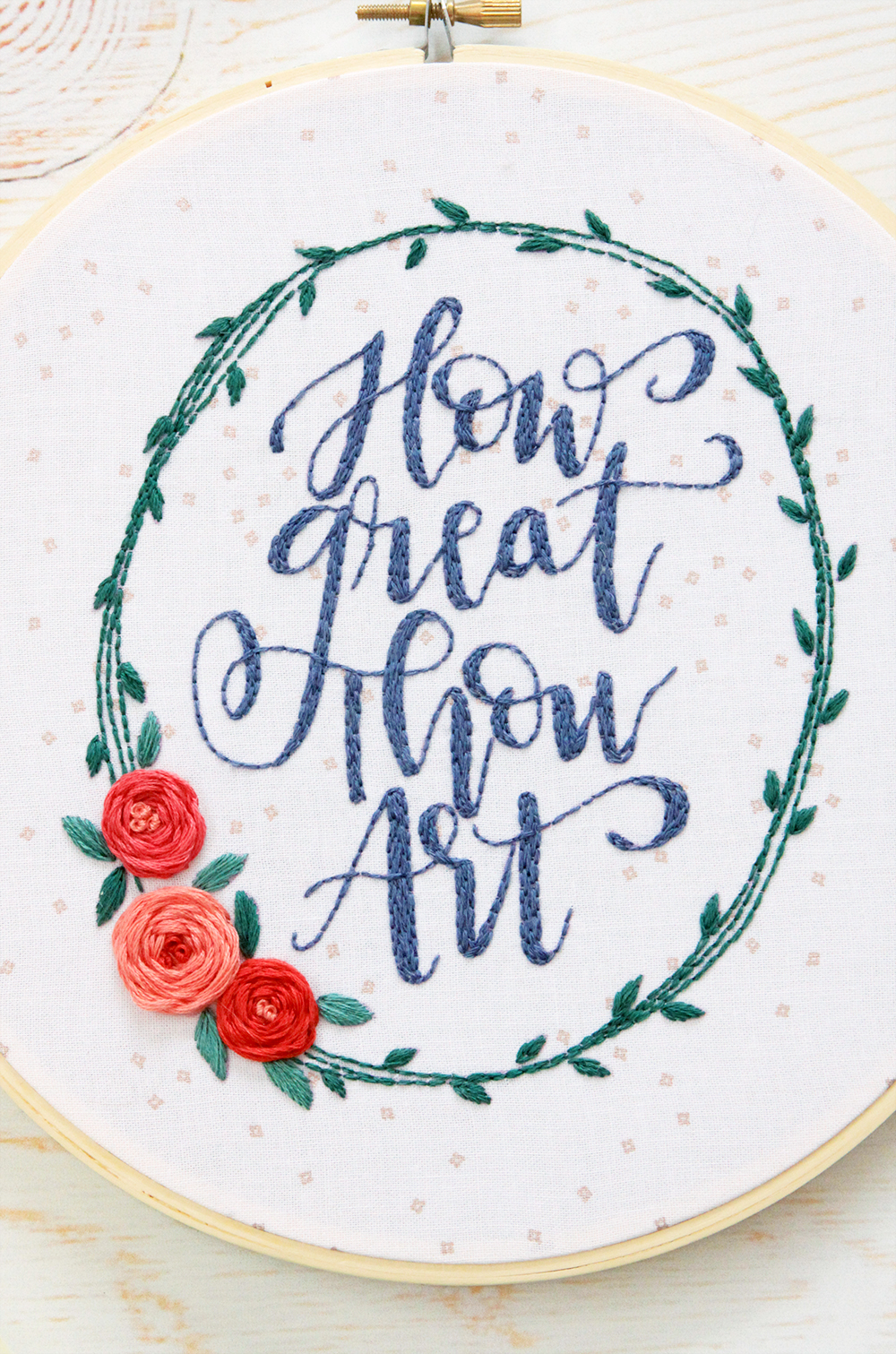 How Great Thou Art Hymn Embroidery