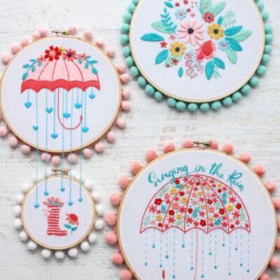 Singing in the Rain Embroidery Patterns