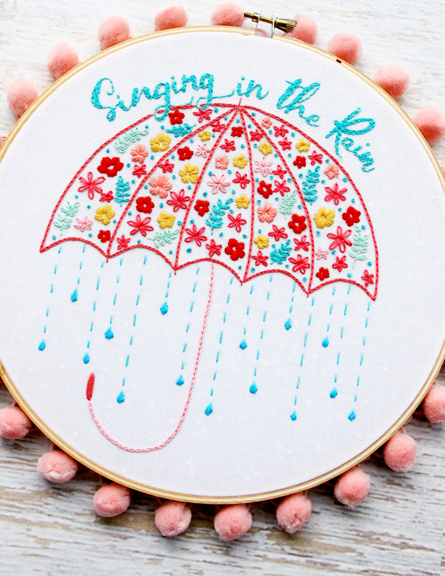 Singing in the Rain Floral Umbrella Hoop