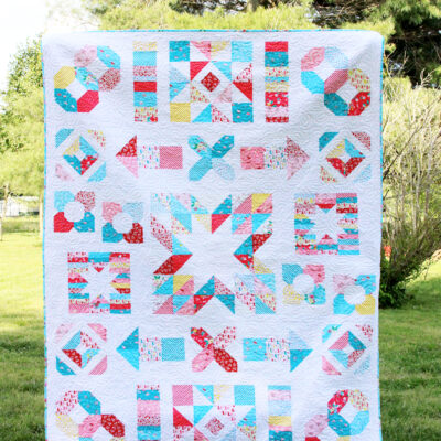 Charming Baby Quilt Sew Along Finished Quilt