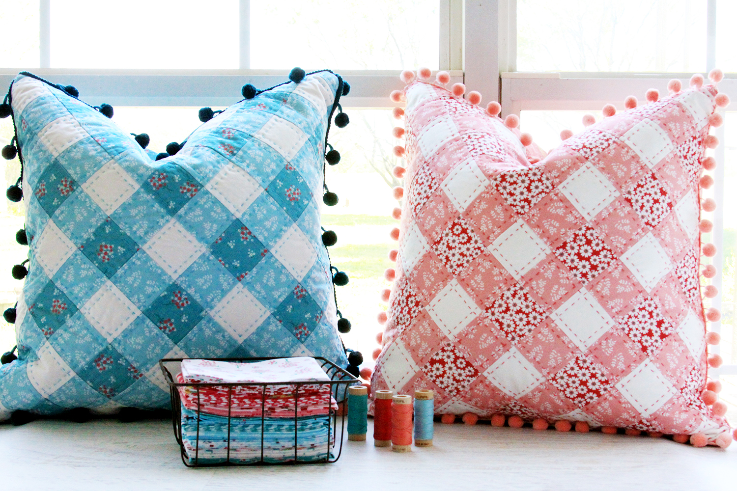 Easy to Sew Gingham PIllows