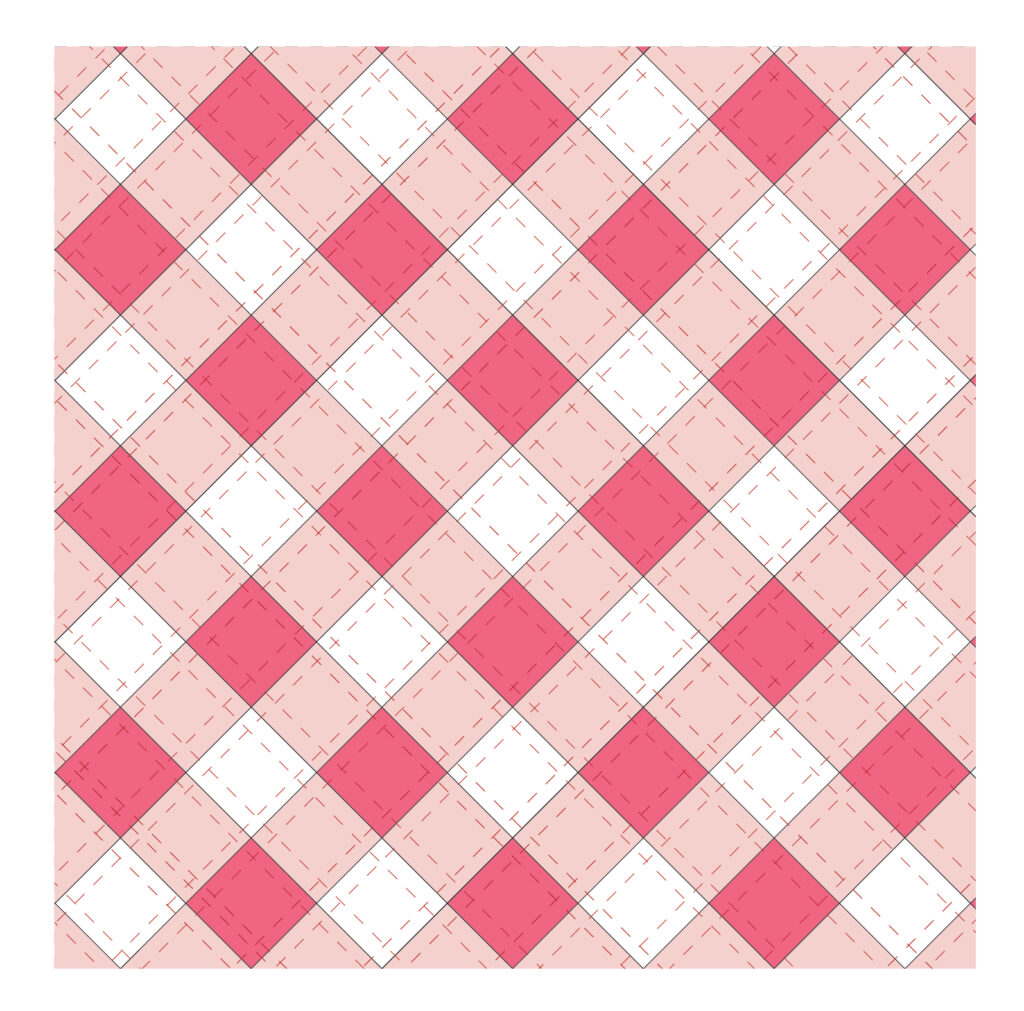 How to stitch hand quilting on gingham pillow