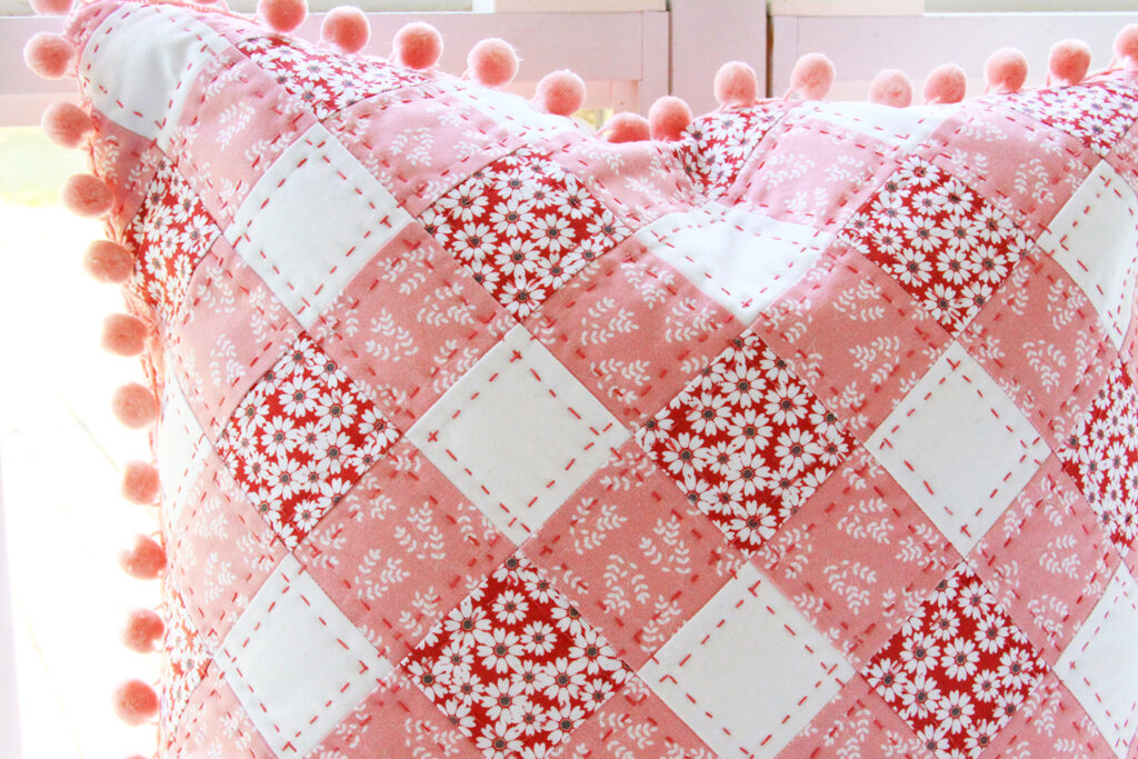 Hand Quilting on Pillow