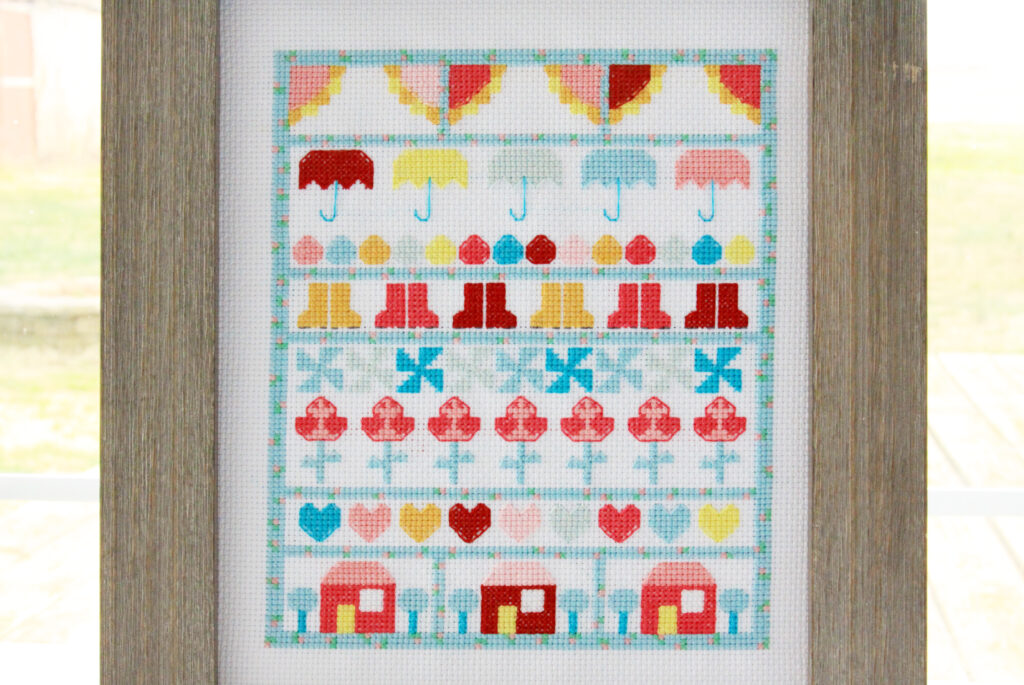 Singing in the Rain Stitch Along Houses and Finish