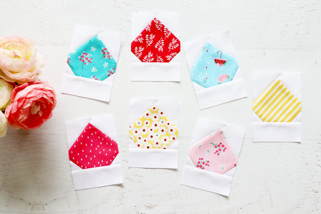 Easy Rain Drop Quilt Blocks