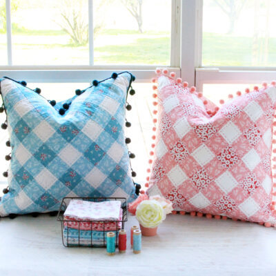 Patchwork Gingham Pillows