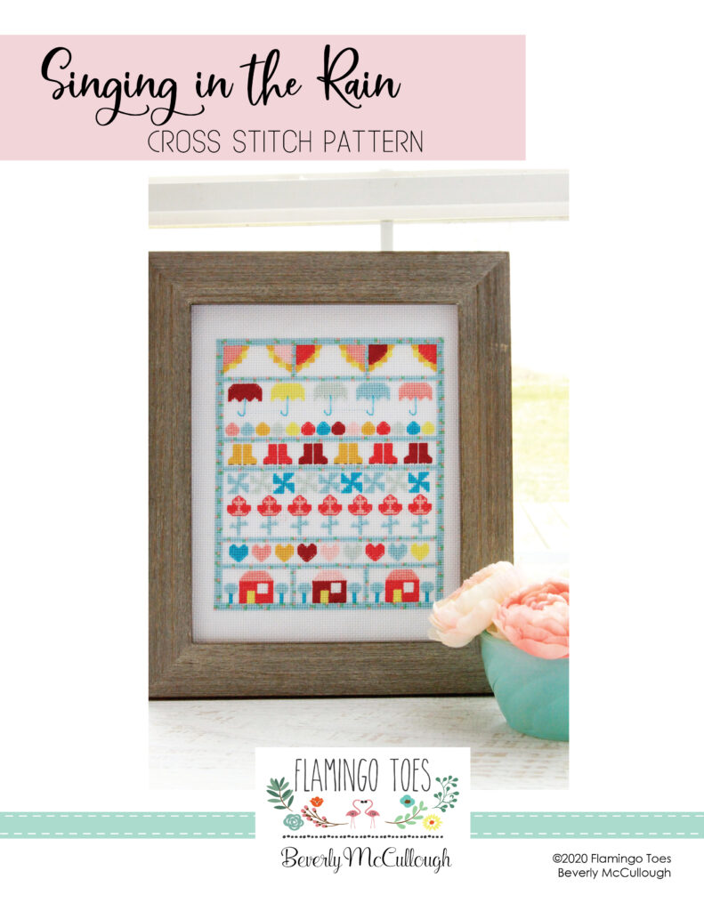 Singing in the Rain Cross Stitch Pattern