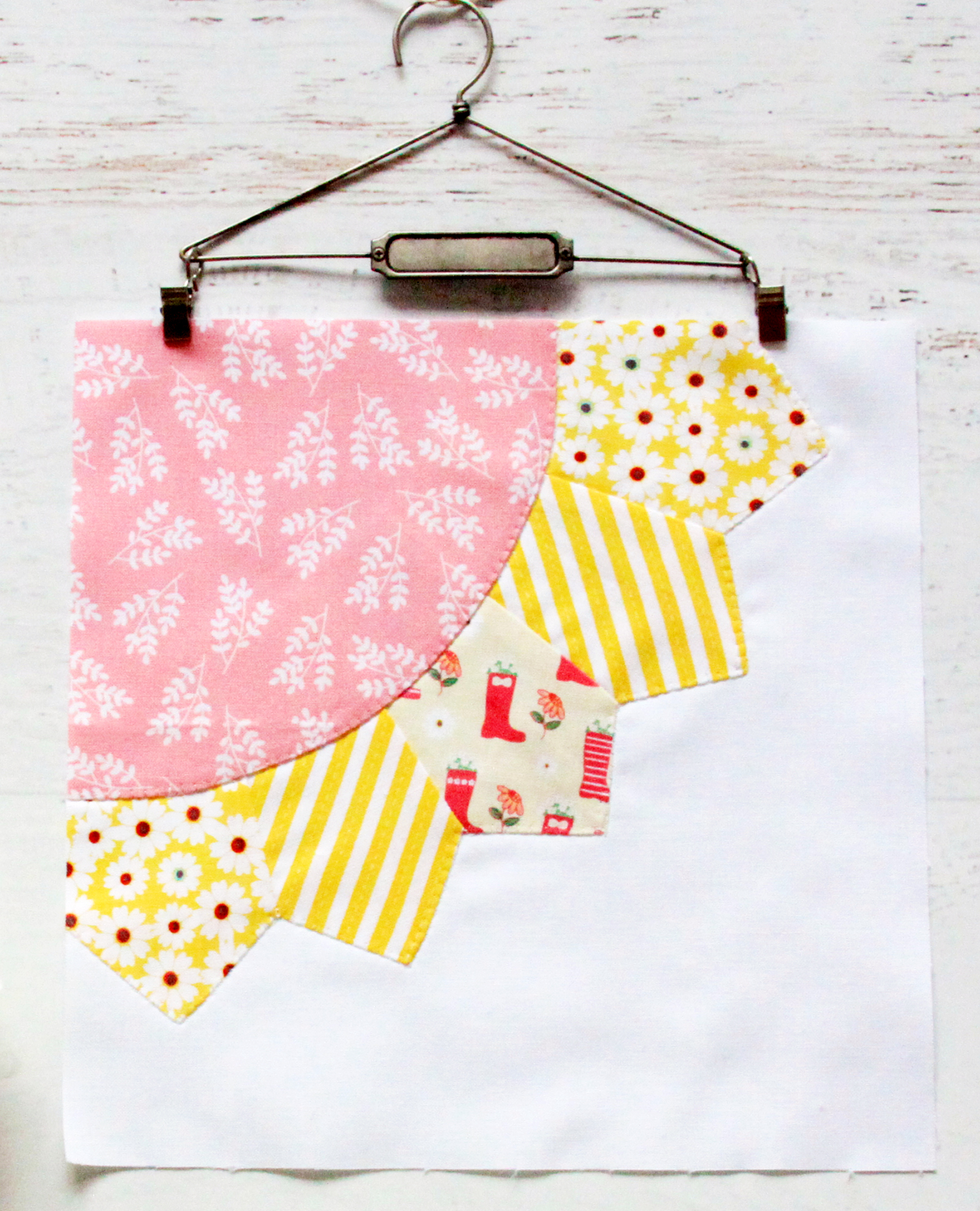 Singing in the Rain Quilt Sew Along Row 1
