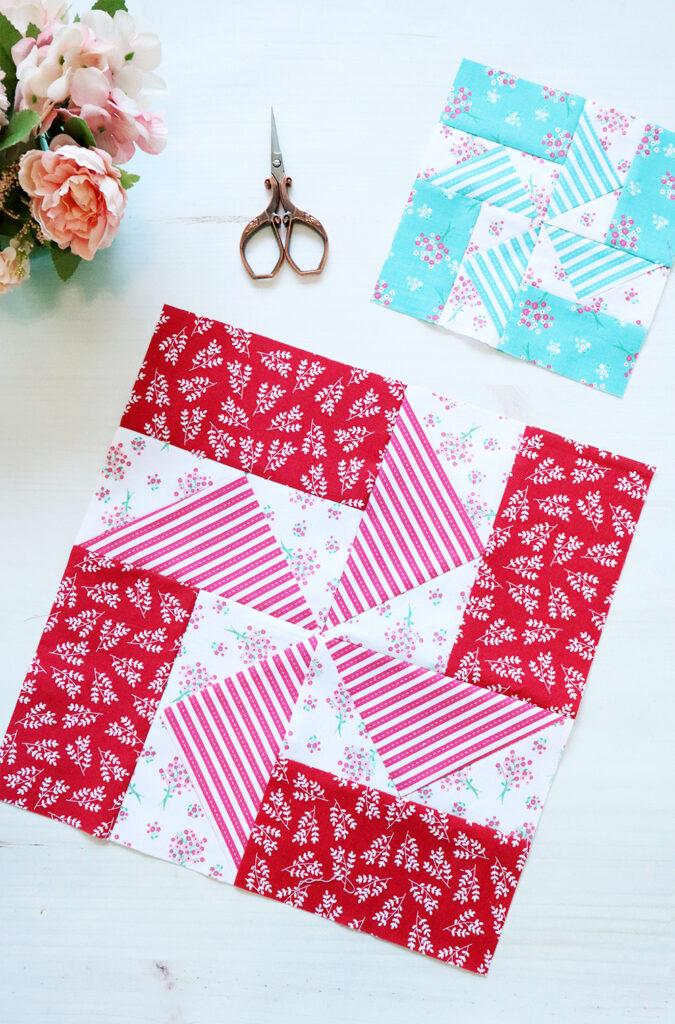 Easy Pinwheel Quilt Block - RBD Block Challenge