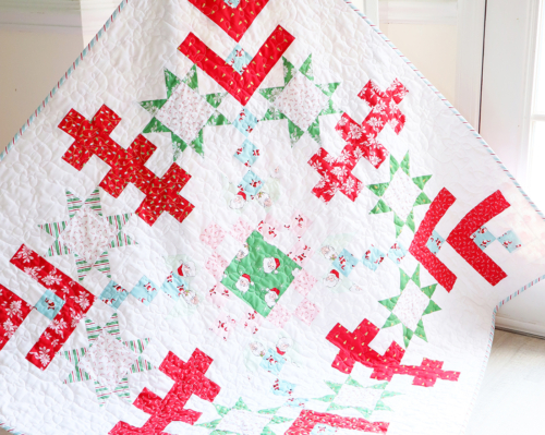 Finished Jelly Snowflake Quilt sq