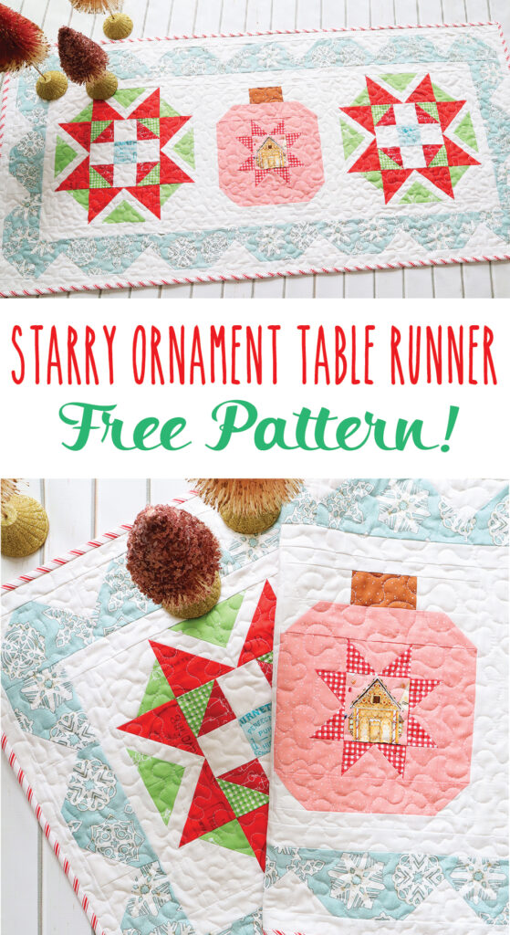 Starry Ornament Christmas Table Runner - Free Pattern