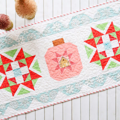 Starry Ornament Christmas Table Runner