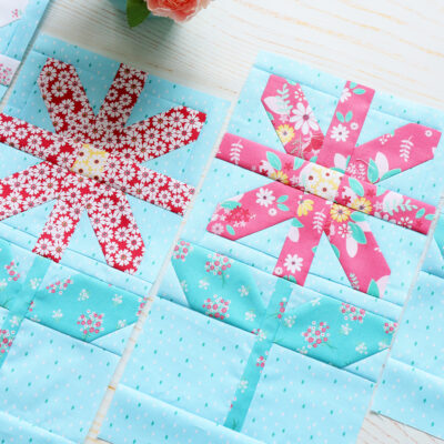 Quilter's Cottage Sew Along Flower Blocks