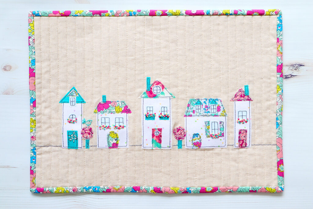 Liberty and Linen Neighborhood Mini Quilt