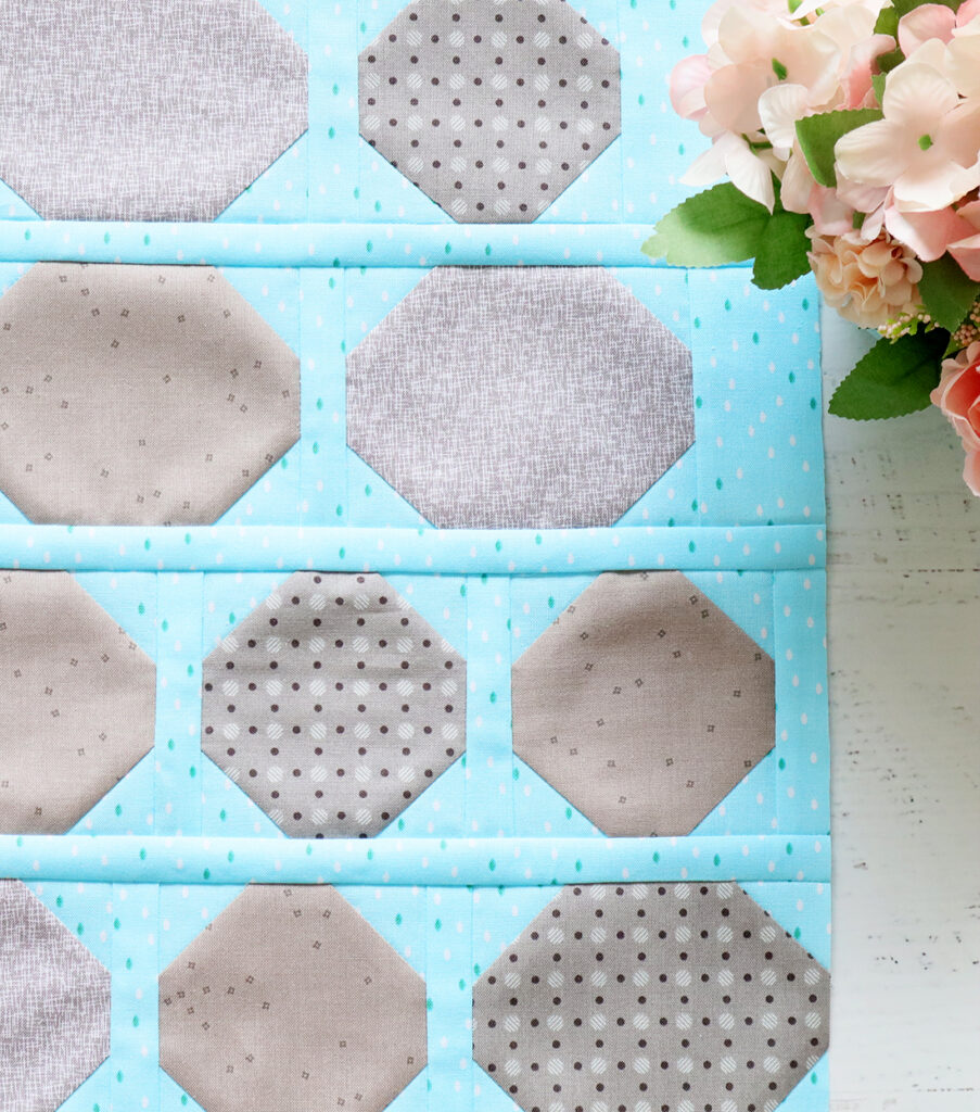Quilter's Cottage Sew Along Cobblestone Block