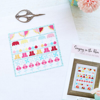 Singing in the Rain Stitch Along Flowers