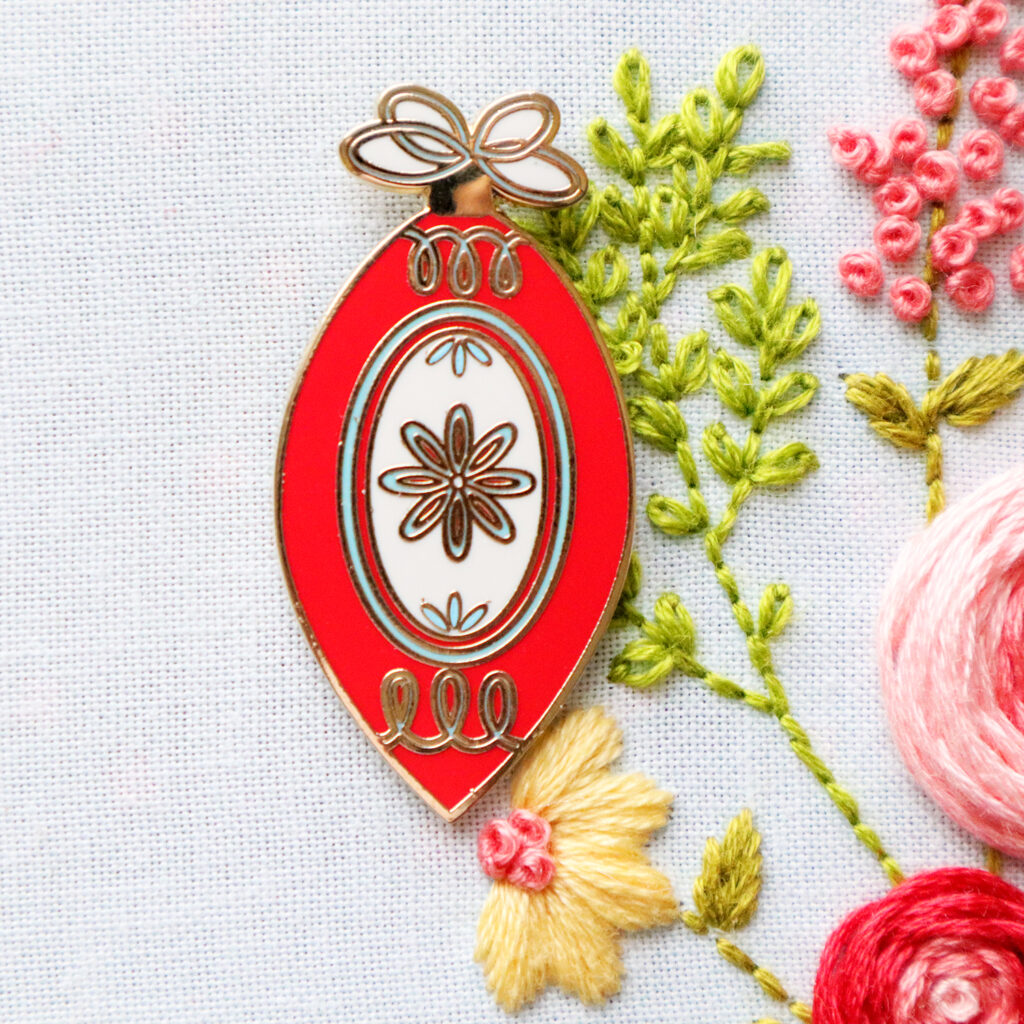 New Vintage Christmas Ornament Needle Minder