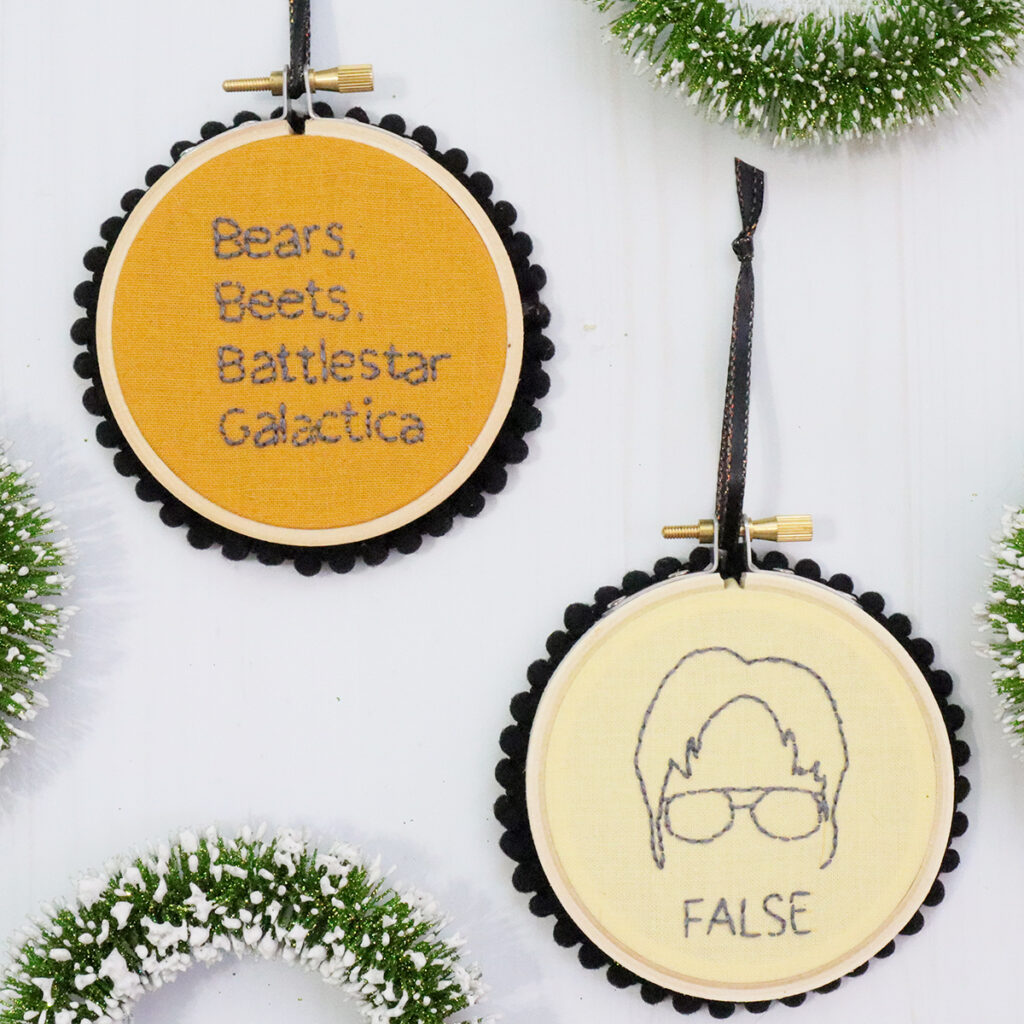 The Office DIY Christmas Ornaments