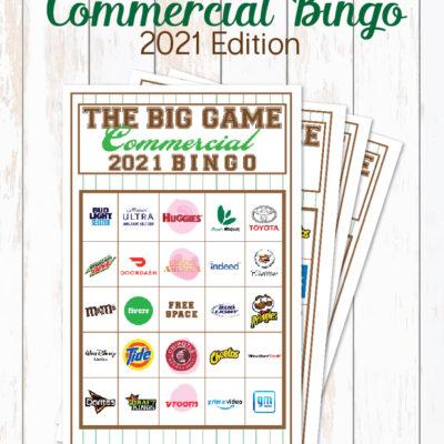 2021 Big Game Commercial Bingo