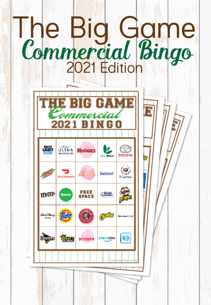 2021 Big Game Commercial Bingo