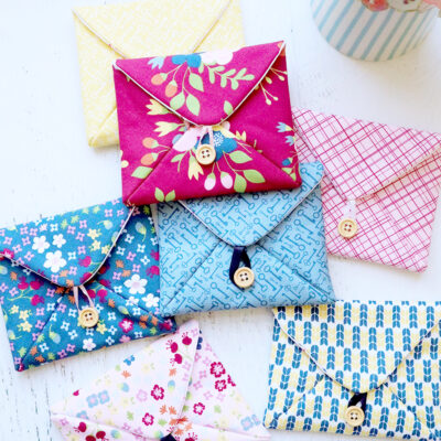 Love Note Fabric Envelopes