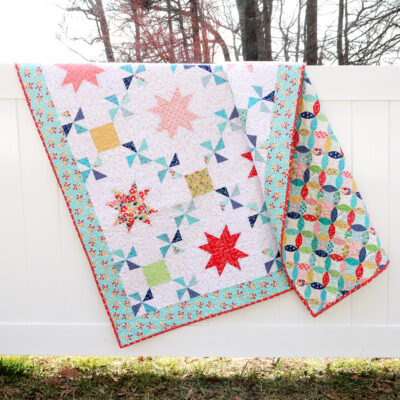 Vintage Treasures Quilt with Sashiko Stitching