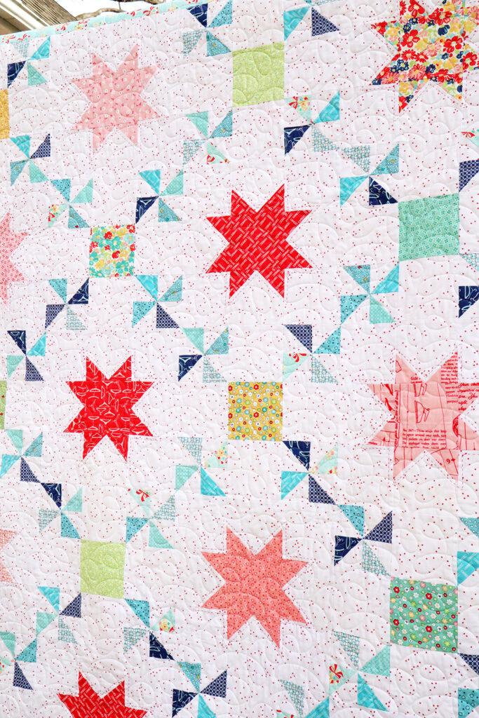 Vintage Treasures Quilt with Sashiko Stitching