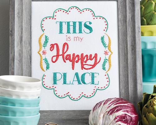 This is my Happy Place - Retro Stitchery