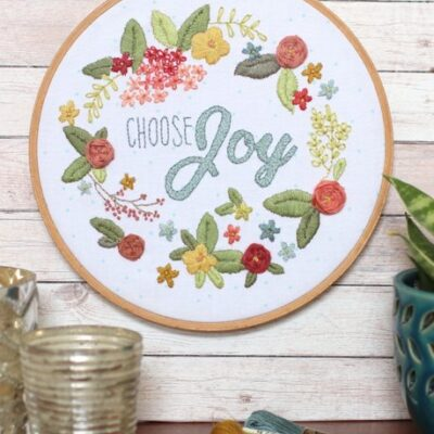 Choose Joy Hoop from Diary of a Quilter