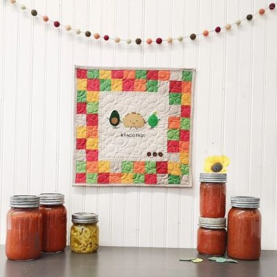 Taco Trio Mini Quilt by Bee Sew Inspired
