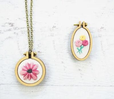 Embroidered Necklaces from Cutesy Crafts