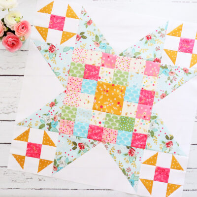 Large Patchwork Star Block – Swinging on a Star Sew Along