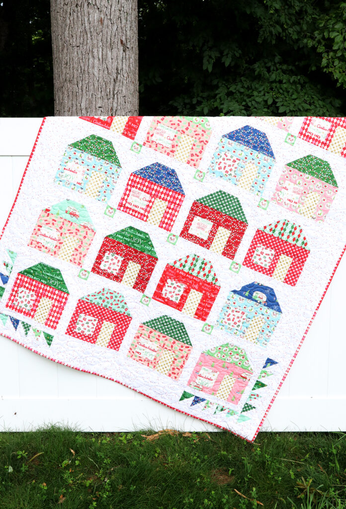 Merry Little Houses Quilt - Holiday Celebrations Book