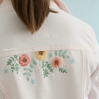 Embroidered Denim Jacket by Molly and Mama