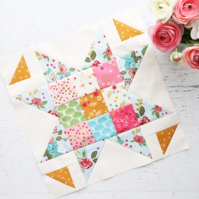 Small Patchwork Star Block – Swinging on a Star Sew Along