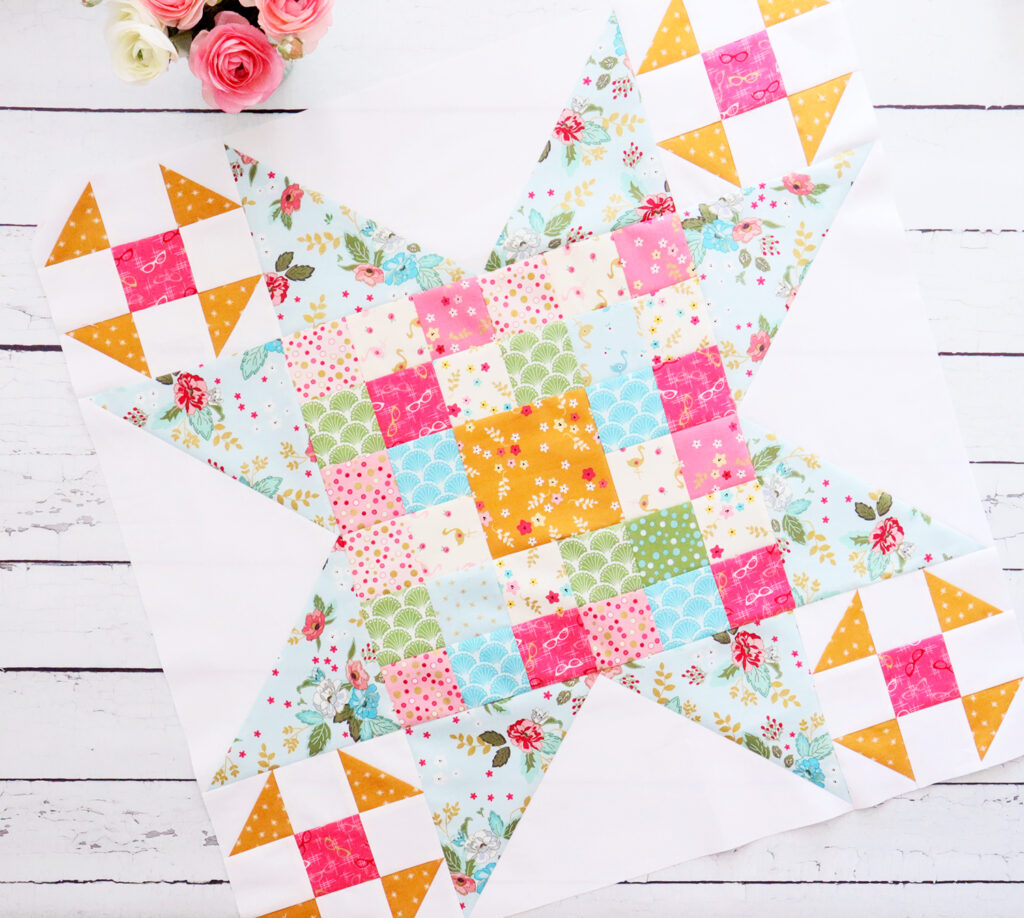 Large Patchwork Star Block - Swinging on a Star Sew Along
